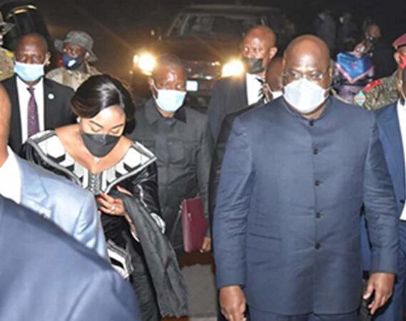 Le Président et la Première Dame font montre de solidarité envers la population du Kivu après la coulée de la lave